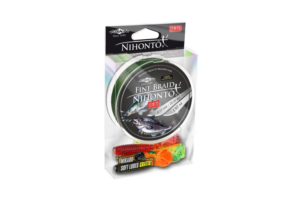 Плетено влакно Mikado Nihonto Fine Braid Green 150м